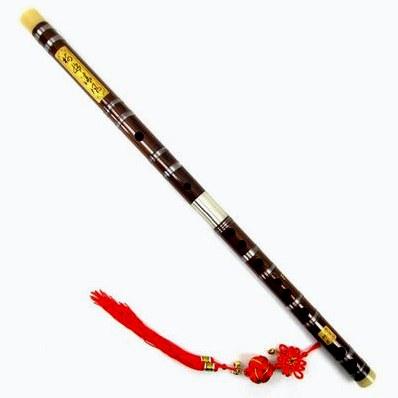 Бамбуковая флейта на красном шнуре для денег
