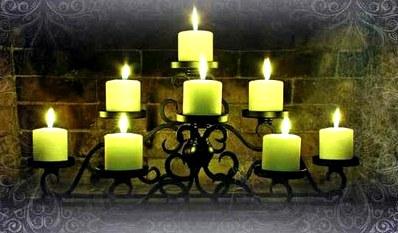 Денежный ритуал зеленая свеча